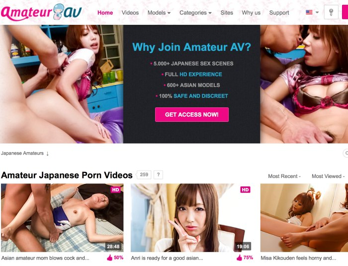 One of the best paid adult sites if you like amazing asian flicks